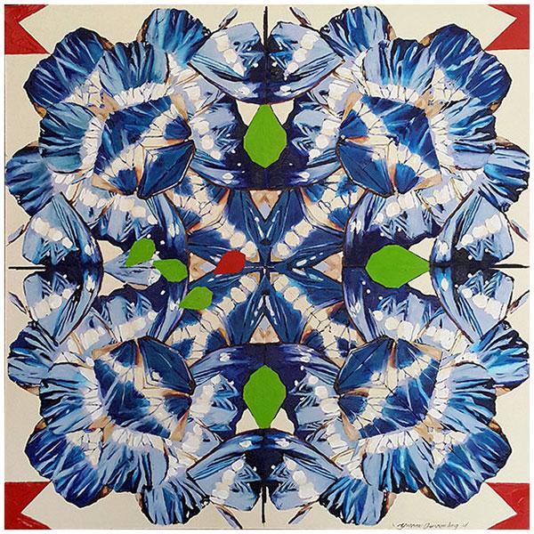 Morph to Blue, 2014 / 76cm x 76cm / oil on canvas
