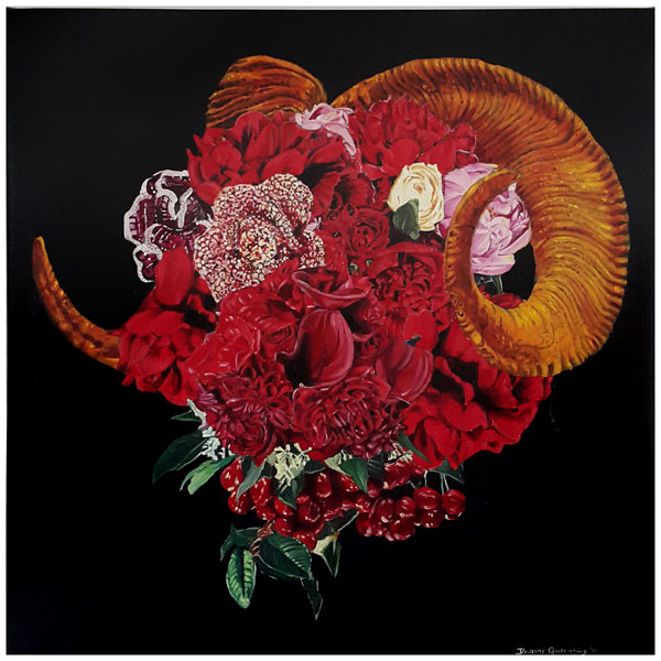 Red Ram, 2015 / 61cm x 61cm / oil on canvas