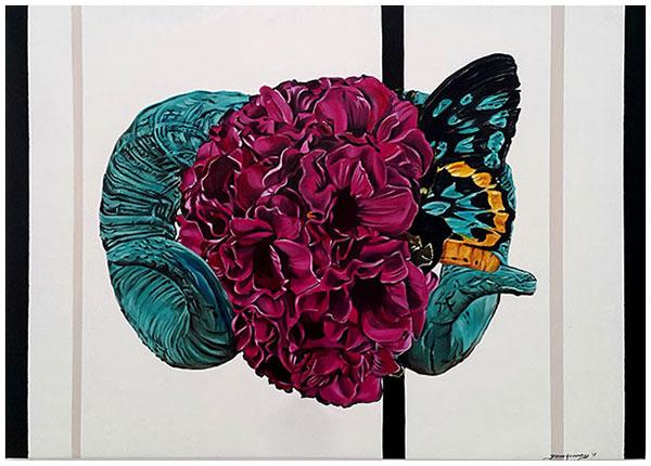Turquoise, 2015 / 72cm x 109cm / oil on canvas