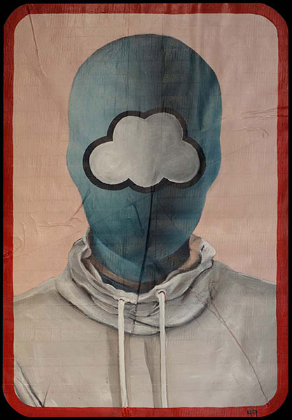 Cloud, 2009 / acrylic on duct tape